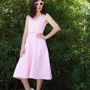 VINTAGE Pastel Pink Pinup Girl Dress